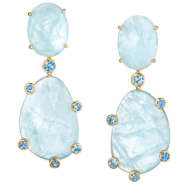 Joon Han aquamarine earrings