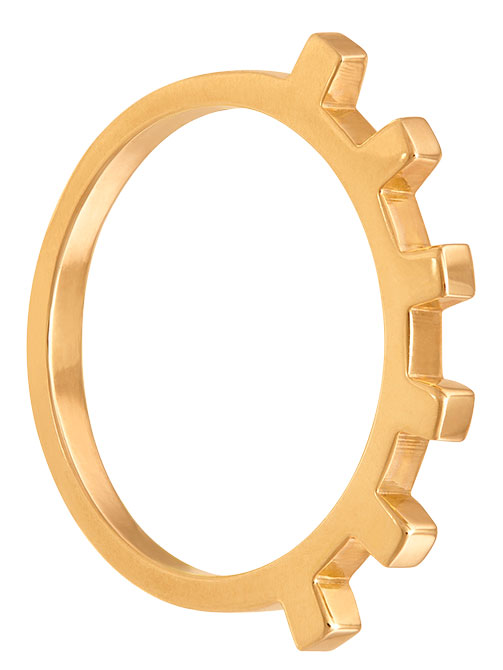 June Nineteen 6 cubes gold ring