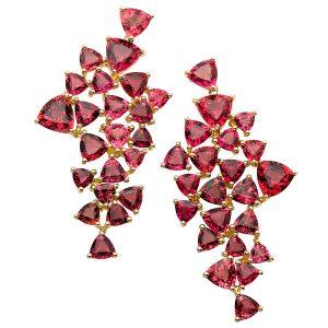 Karma El Kahlil rubellite puzzle earrings