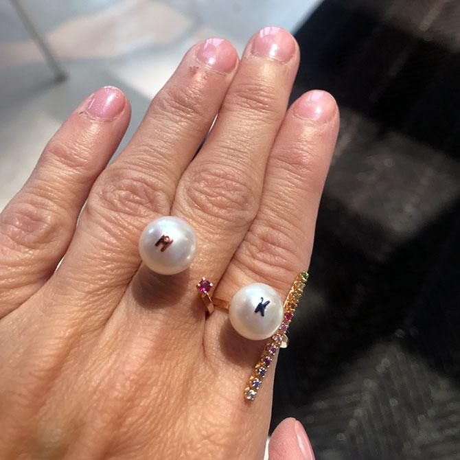 Kelly Bello rings