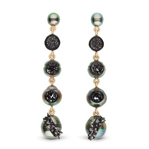 Little h agta tahitian pearl earrings