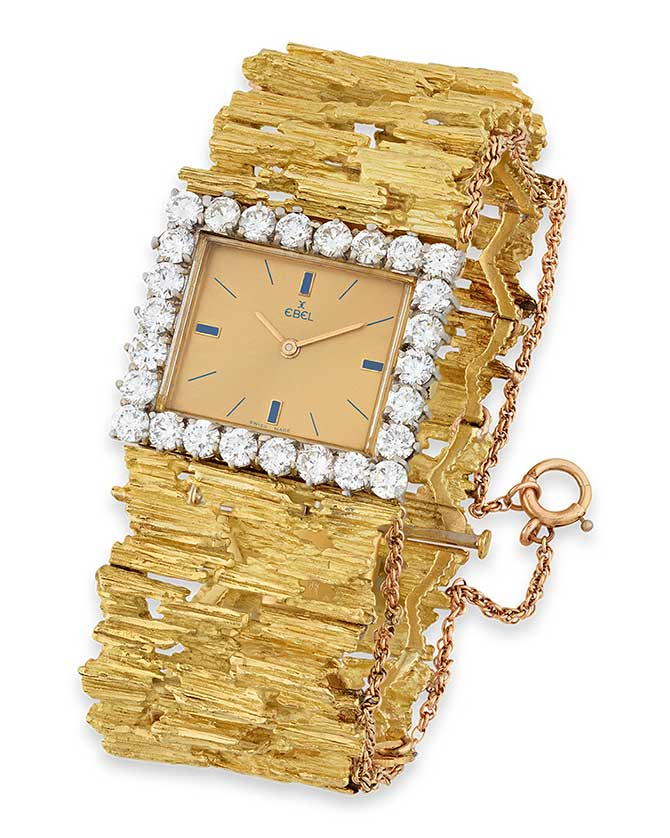 MS Rau Elvis Presley Gold and Diamond Watch