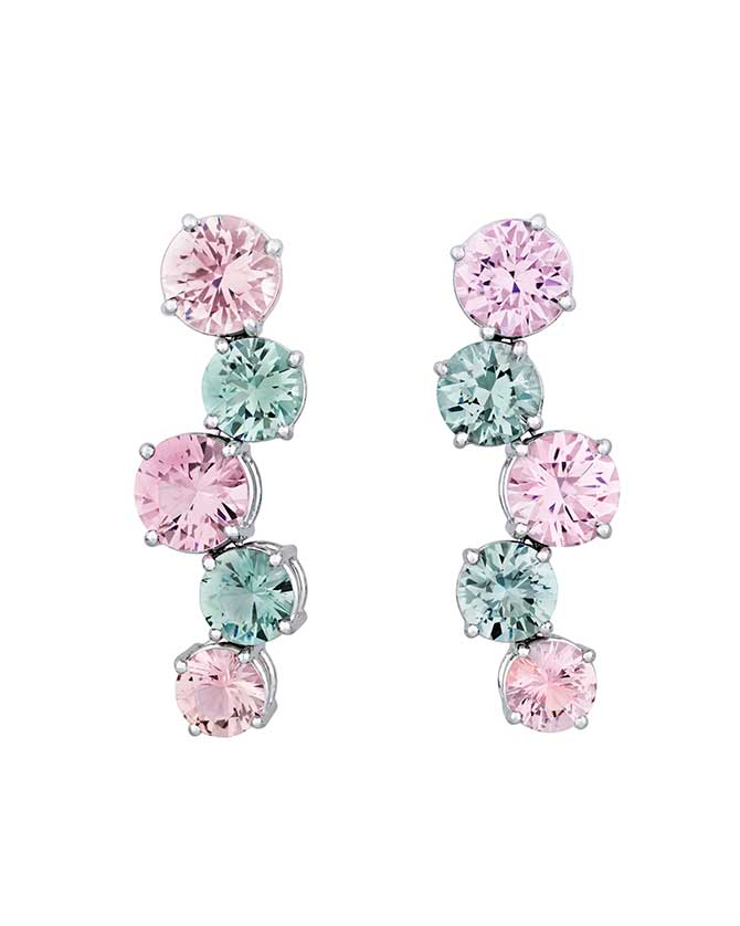 MS Rau multicolor tourmaline earrings