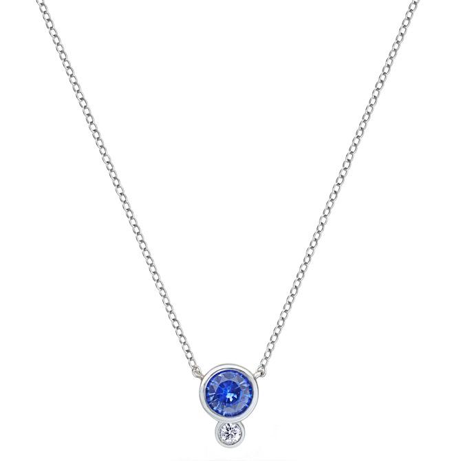 Annie James sapphire pendant