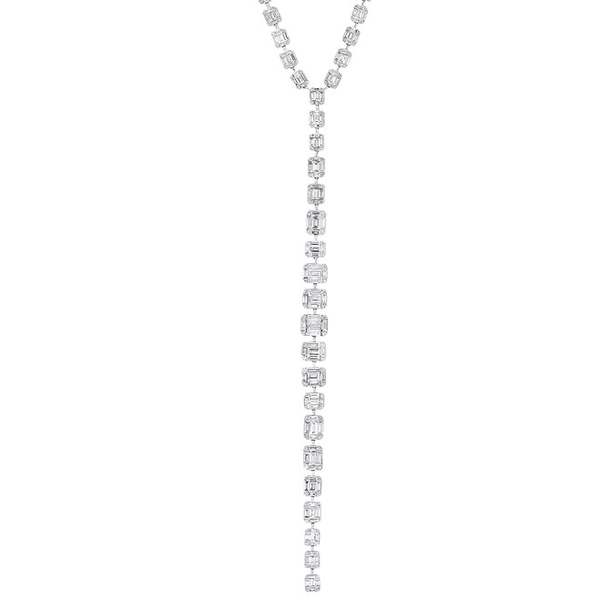 Benjamin and Co baguette diamond necklace
