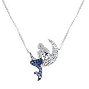 KC Designs blue sapphire mermaid necklace