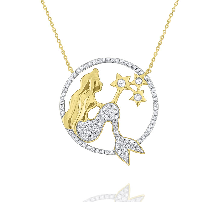 KC Designs mermaid circle necklace