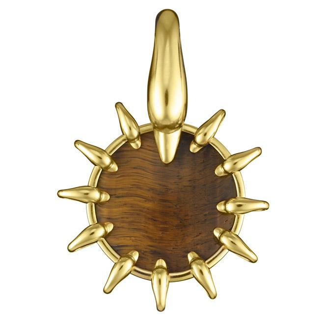 Lalaounis tiger's eye pendant