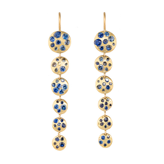 Polly Wales sapphire earrings