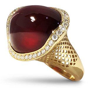 Ray Griffiths crownwork garnet ring