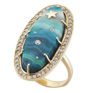 Andrea Fohrman one-of-a-kind chrysocollaa ring