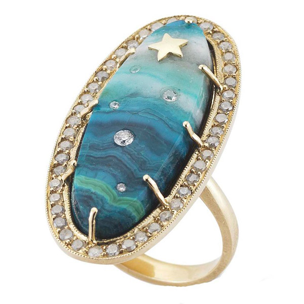Andrea Fohrman one-of-a-kind chrysocolla ring