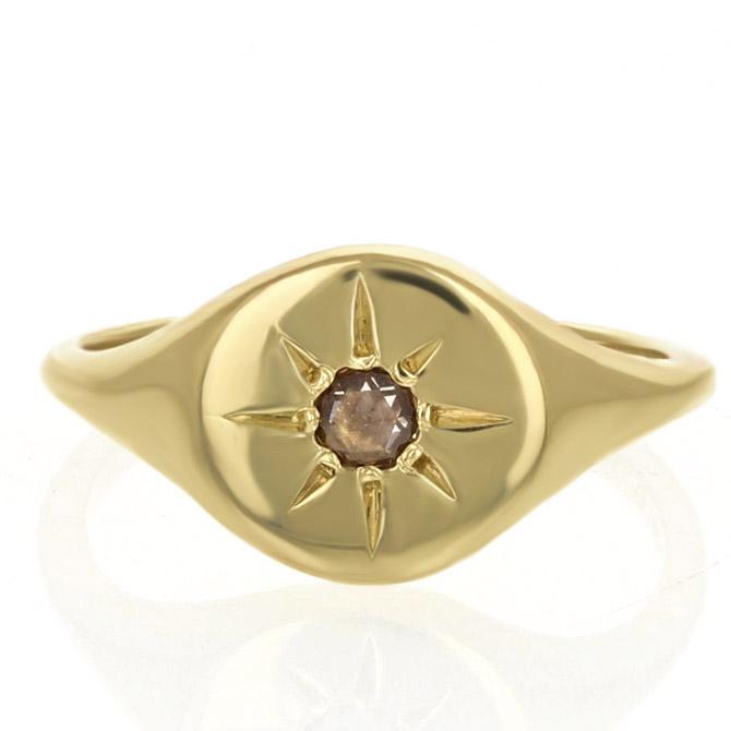 IO Collective Burst signet ring
