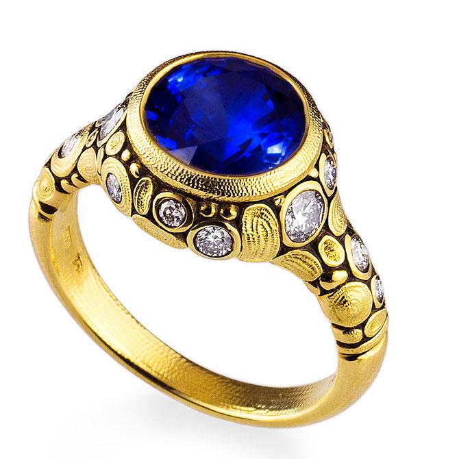 Alex Sepkus sapphire Circle ring