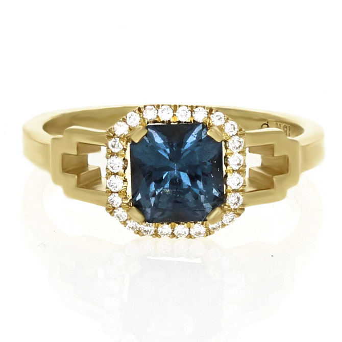 IO Collective sapphire Kennedy ring