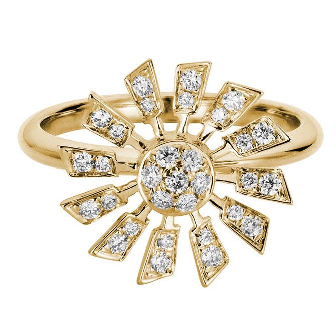 Artistry Ltd. diamond sun ring