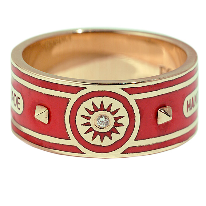 Foundrae R2 Strength wide cigar band ring