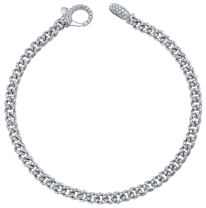 Shay baby pave link bracelet