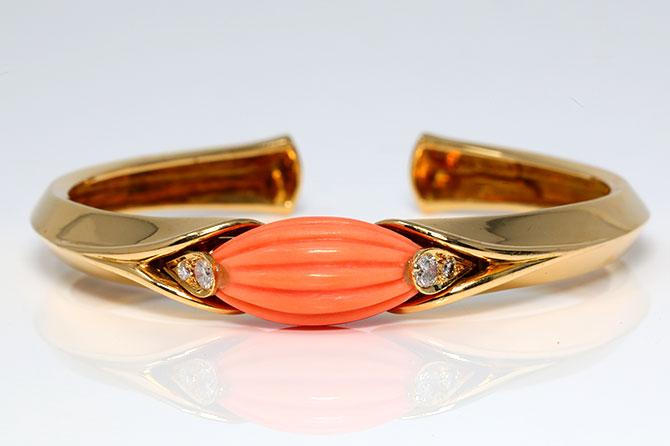 Van Cleef Arpels coral cuff bracelet