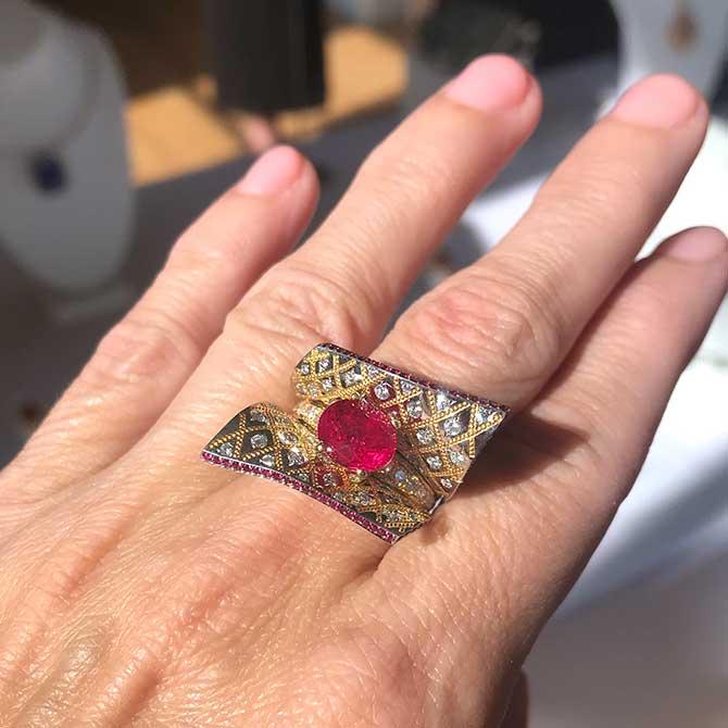 Zoltan David ruby ring
