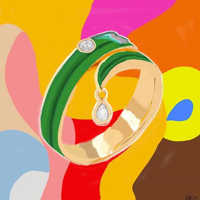 sketchnyc solange enamel ring