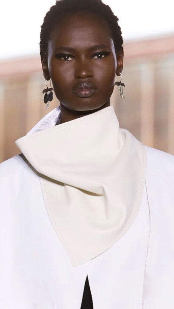 3 1 Phillip Lim Ariana Boussard Reifel all white runway look