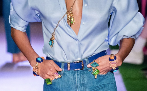 Brandon Maxwell spring 2020 jewelry closeup
