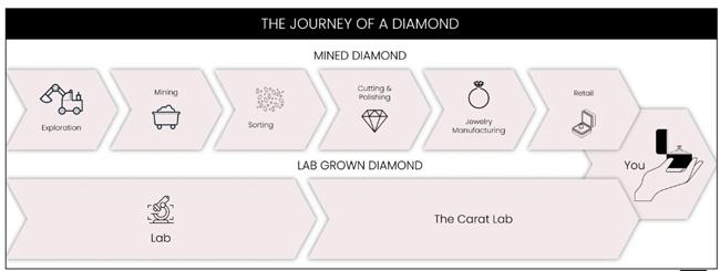 Carat Lab diamond journey