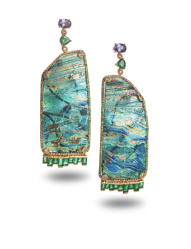 Coomi Roman glass earrings