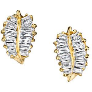 Anita Ko small palm leaf earrings