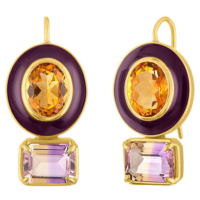 Amy Glaswand Pop enamel earrings