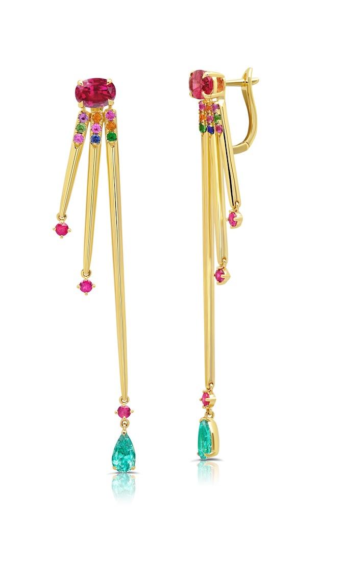 Graziela pink tourmaline earrings