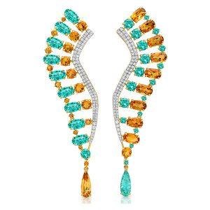 Graziela tourmaline and citrine earrings