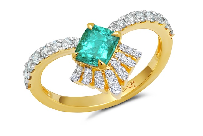 Graziela tourmaline and diamond ring