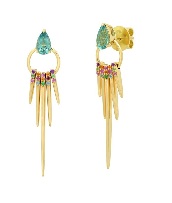 Graziela tourmaline fringe earrings
