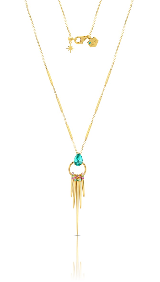 Graziela tourmaline fringe necklace