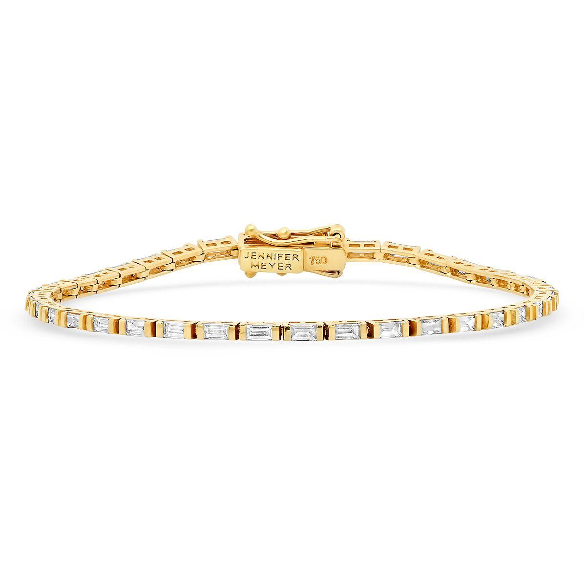 Jennifer Meyer baguette tennis bracelet