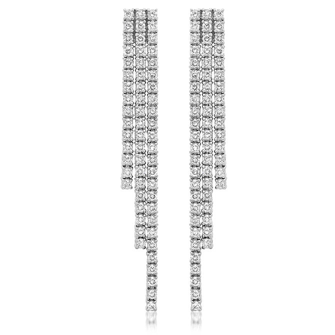 Jennifer Meyer diamond cascade earrings