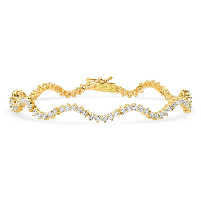 Jennifer Meyer wave tennis bracelet