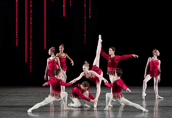 Jewels ballet Rubies tableau