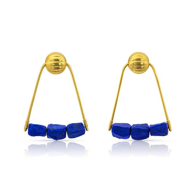 Loren Nicole 21st Dynasty lapis earrings