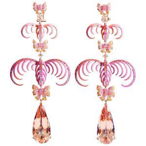 Lydia Courteille la vie en rose drop earrings