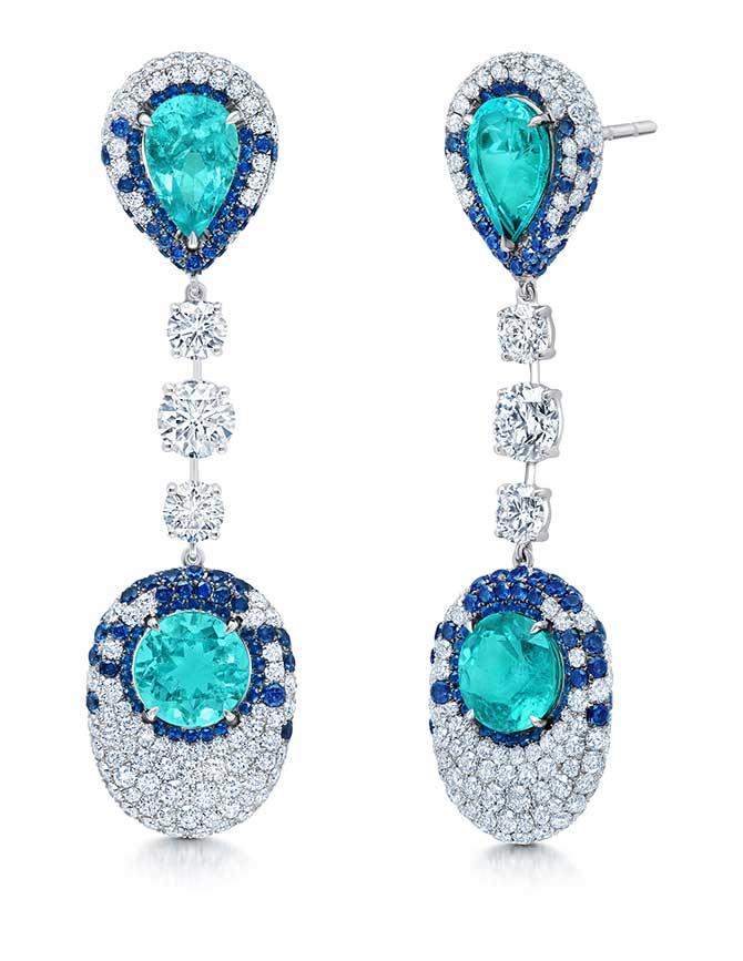 Martin Katz Paraiba drop earrings
