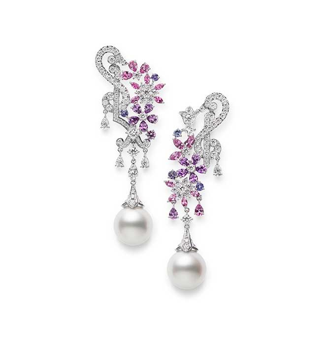 Mikimoto Jardin Mysterieux earrings