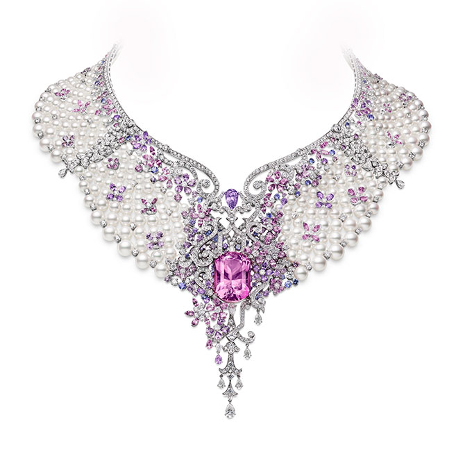 Mikimoto necklace lavender sapphires and spinel