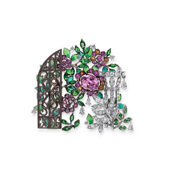 Mikimoto rose brooch