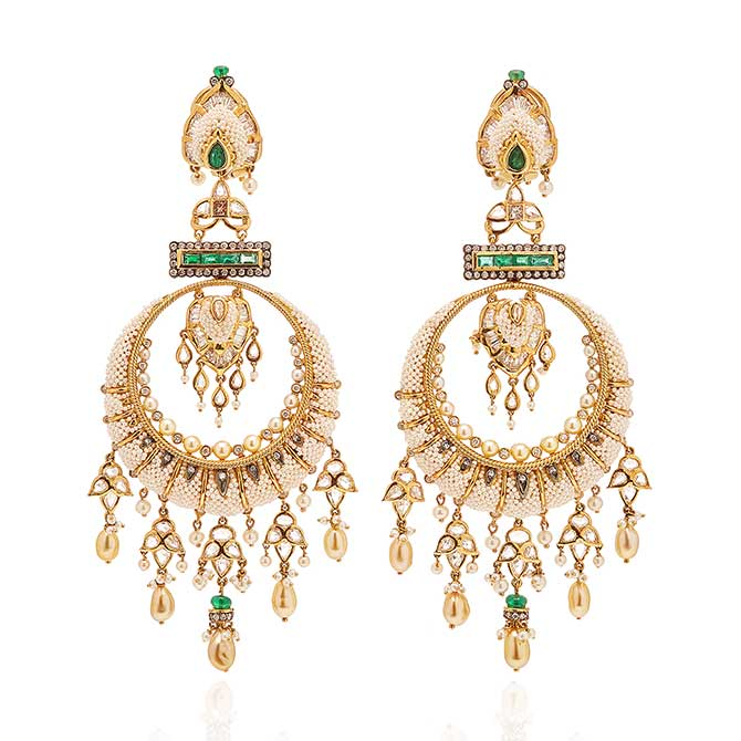 Moksh Taantvi statement earrings