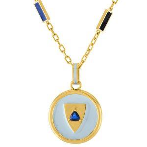 Amy Glaswand Royal Shield pendant