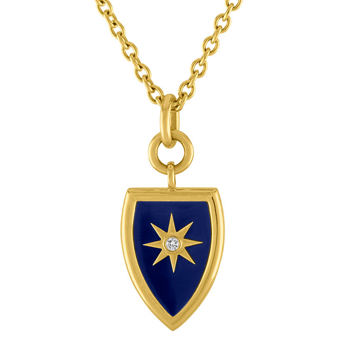 Amy Glaswand Celestial Shield pendant