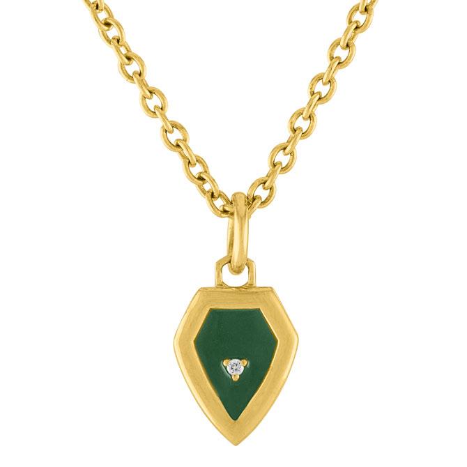 Amy Glaswand mini Shield pendant